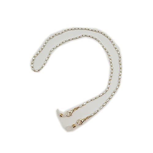 Cordón para gafas, cadena de perlas para mujer, correa de metal para gafas de sol, cordón