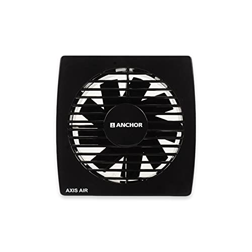 Anchor by Panasonic Axis Air - 150mm Ventilation Fan  Exhaust Fan for Home, Office, Kitchen and Bathroom (Black)