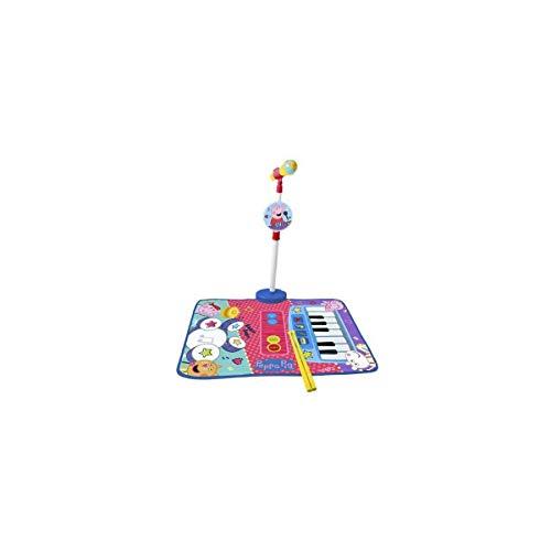 REIG- Alfombra Bateria y Piano Peppa Pig con Micro de pie y