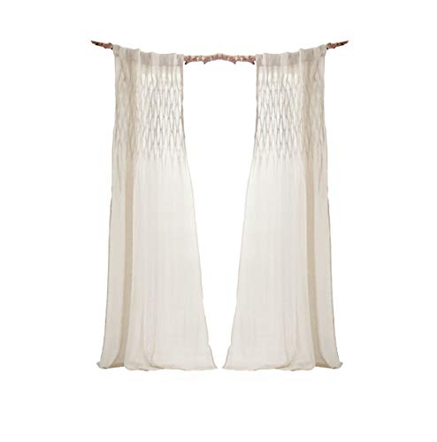 Pureday Vorhang Elisa - 100% Leinen - ca. B75 x L250 cm - Natur