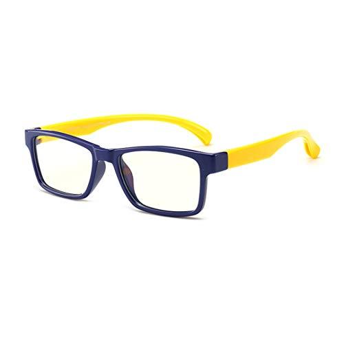 Anti Blaulicht Brille - Kinder Brillen Clear Lens Retro Reading Eyewear für Mädchen Jungen