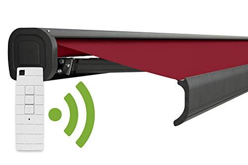 empasa Elektrische Kassettenmarkise Gelenkarmmarkise Markise Sonnenmarkise Sonnenschutz in verschiedenen Größen und Farben