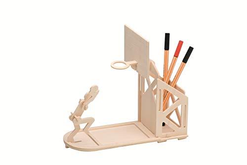 Pebaro 840/3 Holzbausatz 3D Puzzle Stiftehalter Basketball