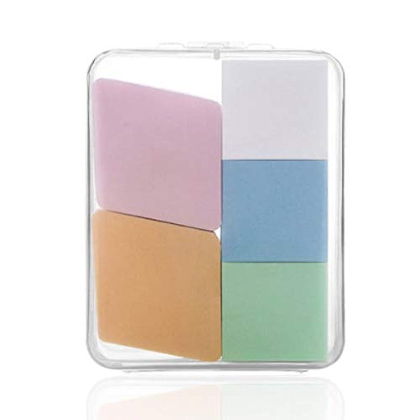 野心写真の役に立つ美容スポンジ、収納ボックス付きソフト化粧スポンジ美容メイク卵5パック