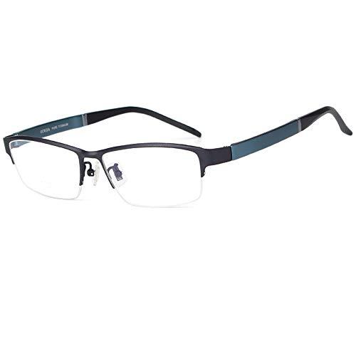 Reading glazen half montuur leesbril, mode voor mannen, doorzichtige Hd-brillenglazen tegen vermoeidheid, rechthoekige brillen met klein frame