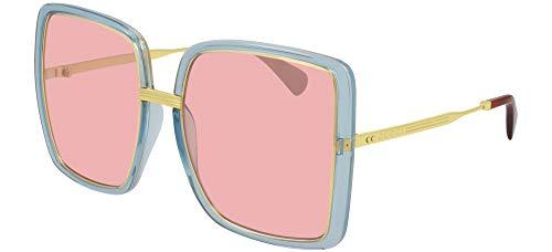 Gucci Gafas de Sol GG0903S Light Blue/Pink 60/18/140 mujer