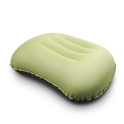 Eono by Amazon Aufblasbares Kopfkissen für das Camping, Schlafen, Reisen, Zubehör, Strandkissen, Reisekissen für Outdoor oder das Schlafen in Flugzeugen, Hotels, Büros und Betten(grün)