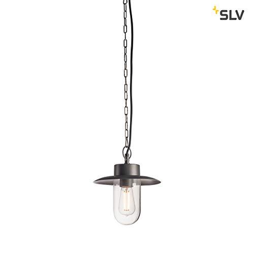 SLV LED Außen-Hängeleuchte MOLAT, für eine effektvolle Beleuchtung | Pendelleuchte Außen-Lampe, LED Hängelampe, Aussenleuchte, Garten-Lampe industriell, Gartenleuchte | E27, max. 60W, IP44, EEK E-A++