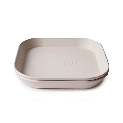 mushie Kinderteller | Kindergeschirr Teller Set 2er pack | BPA-frei geschirr Hergestellt in Dänemark (Ivory)