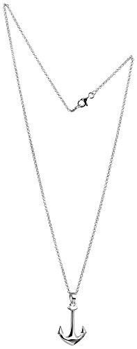 Nenalina Damen Halskette aus 925 Sterling Silber mit Anker Anhänger im maritimen Stil 45cm lang