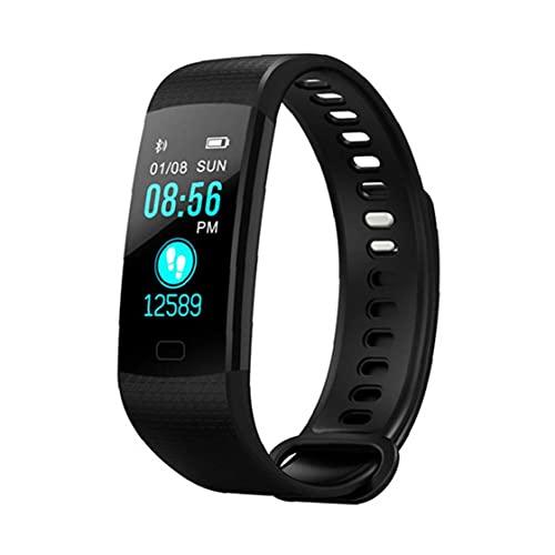 NaiCasy Pressione Tracker Banda di Smart Watch Y5 Intelligente Bracciale Impermeabile Intelligente Orologio da Polso frequenza cardiaca Sangue Sport Fitness Tracker Nero