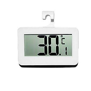 NLLeZ 1PC LCD Digital Screen Précision Réfrigérateur Thermomètre Réglable Stand Aimant Imperméable Réfrigérateur Digital Congélateur Chaud (Couleur : White with Battery)