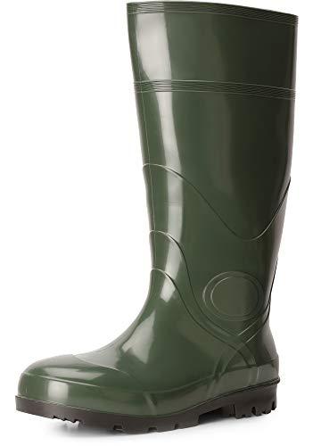 Ladeheid Herren PVC Gummistiefel LA-914 (Grün, 44 EU)