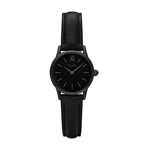 Cluse Unisex Erwachsene Digital Quarz Uhr mit Leder Armband CL50015
