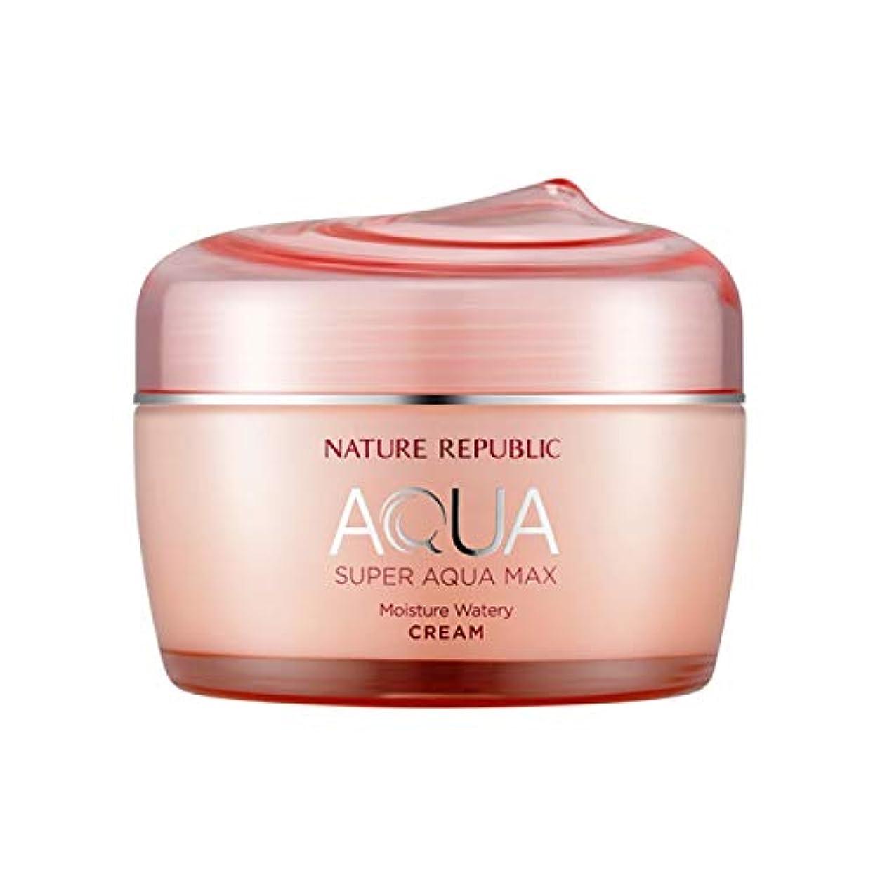 カテゴリー変成器貪欲ネイチャーリパブリック(Nature Republic)スーパーアクアマックスモイスチャー水分クリーム[乾性用] 80ml / Super Aqua-Max Moisture Moisture Cream (Dry Skin) 80ml :: 韓国コスメ [並行輸入品]
