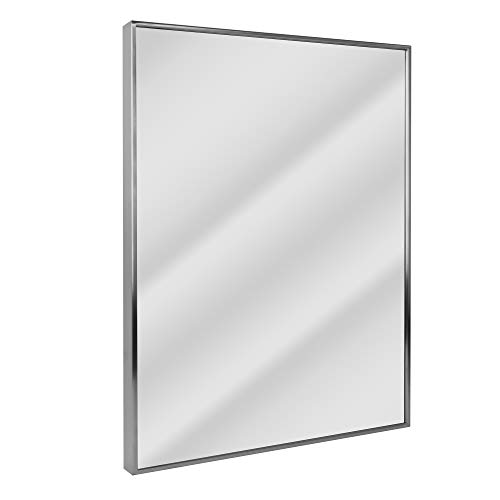 Head West 8770 Wall Mirror, 24 x 30, Nickel