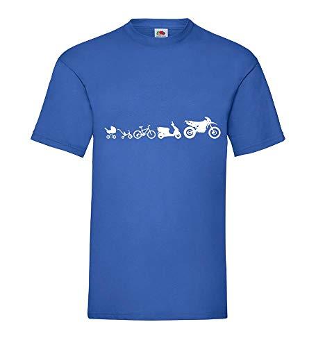 Motorrad Evolution Enduro Cross Männer T-Shirt Royal Blau 3XL - shirt84.de