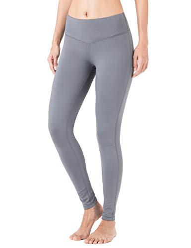 Naviskin Damen Leggings mit Fleece gefüttert Bauchweg Warm Thermo Strumpfhose Yoga Hose Innentasche, Damen, grau, Medium