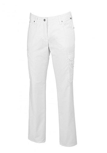 BP 1642-686-21-40l Jeans für Frauen, 5-Pocket-Jeans, 230,00 g/m² Stoffmischung mit Stretch, weiß, 40l
