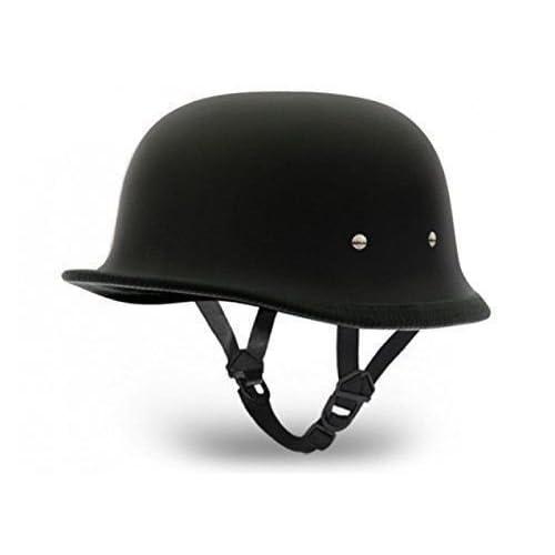Delhitraderss German Style Motorbike Helmet for Bajaj Avenger 220 Street (Dull Black)