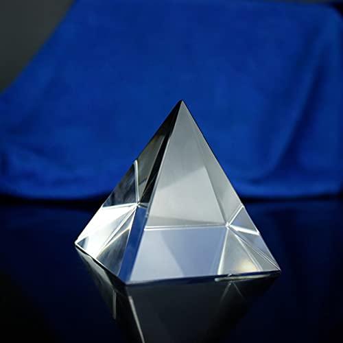 JUNLAI 60mm Naturaleza Claro Cuarzo fengshui Cristal Cristal pirámide de Piedra decoración del hogar