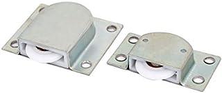 DealMux Muebles armario ropero puerta corredera juego de rodillos 23 mm Diámetro de la rueda