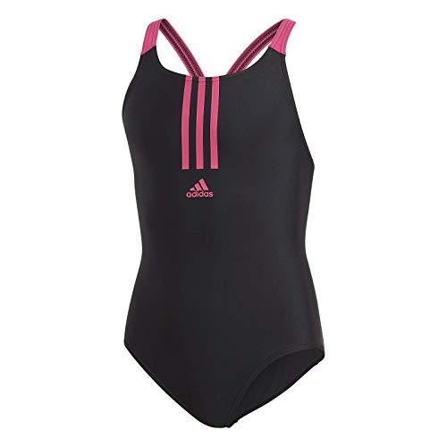 adidas Mädchen Badeanzug Fit, Black/Real Magenta, 164, FL8677