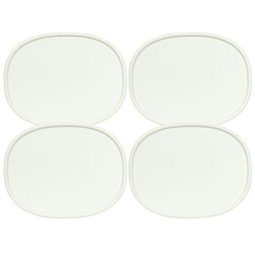Oval French White 2.5-qt or 1.5-qt Lid (4 Pack) - Corningware F-2-PC