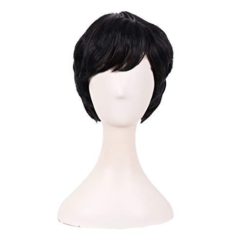 MapofBeauty 10 Inch/25cm Fashion Women Short Curly Wig (Brownish Black)