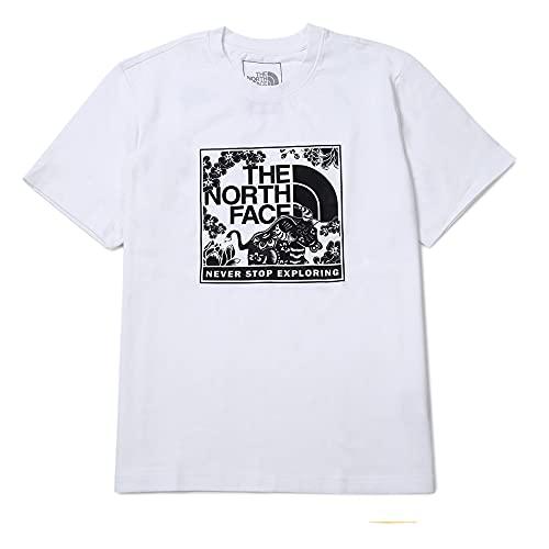 ザ ノースフェイス THE NORTH FACE ロゴTシャツ プリントTEE メンズ レディース ユニセックス トップス (ホワイト, L) [並行輸入品]