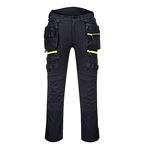 Portwest DX4 Pantalone Holster Tasca Rimovibile per uomo, Colore: Nero, Taglia: 48, DX440BKR48