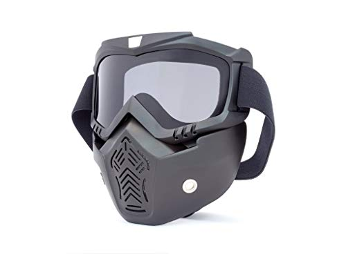 Moto Completo Protector & Gafas Con Lentes Ahumados Para Abierto Cascos
