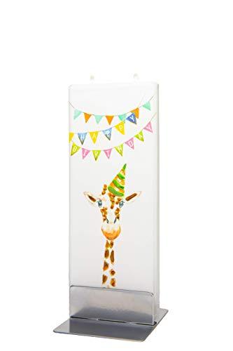flatyz Flache besondere Kerzen Alles Gute zum Geburtstag- Giraffe-Kerze. Handgemacht, geruchsneutral. Kerzen Lange brenndauer 3-4 Stunden, 60x10x150mm. Perfekt als besonderes Geschenk, Kerzen deko.