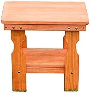 Amish Heavy Duty Pressure Treated End Table (Cedar Stain)