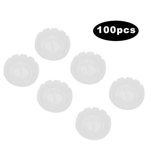 100 Pcs Soporte para pegamento de extensión para pestañas fuertes - Soporte para anillos de pestañas desechables