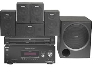 Sony HT-7550DH XM-Ready Five-Disc DVD Component Home Theater System (5.1 Channel) with WSFV11 Speaker Stands