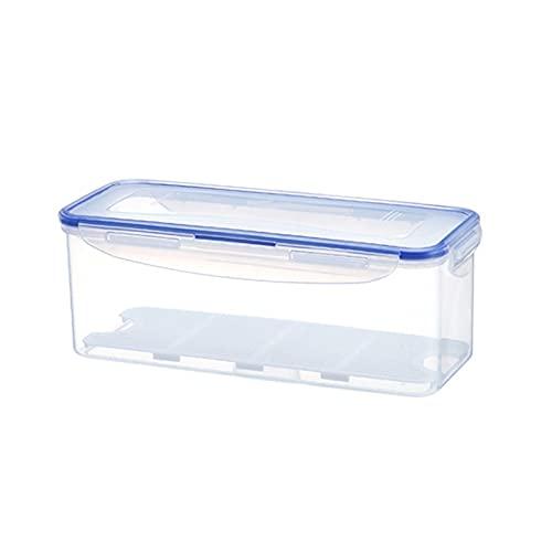 Fiambrera Caja de plástico de mantenimiento fresco con tapas y bandeja de drenaje extraíble para la cocina, puede contener peces, verduras, etc. Preservación