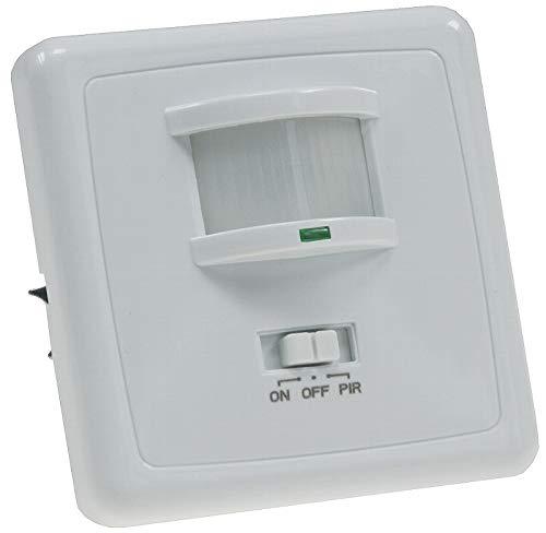 PIR-Bewegungsmelder 160° für mehr Sicherheit, Komfort, Energieeffizienz, Überwachung. LED geeignet, 3-Draht Technik, Unterputz, weiß, IP 20