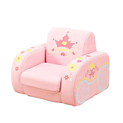 BLWX LY Cartoon Car Styling Armchair, faltbares Kindersofa, Kinder Recliner Chair, Lounge-Möbel for Jungen und Mädchen aus PU-Leder (Color : Pink)