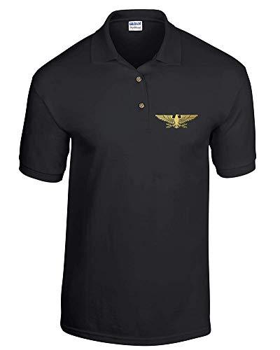 Roman Leigion Standard Eagle DryBlend - Polo para hombre Negro Negro ( XL