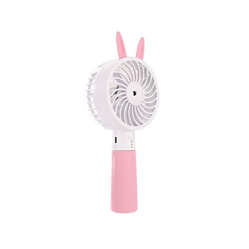 XRX Mini-ventilator, draagbaar, draagbaar, USB-oplading, voor studenten, badkamer in de open lucht, gezichtsspray