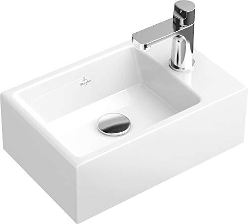 Preisvergleich Produktbild Villeroy & Boch Handwaschbecken Memento 53334G 400x260mm Hl. re durchgest ohne Überlauf weiß,  53334G01