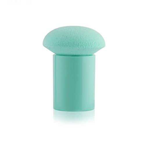 SDHF Beauté mélangeur doux maquillage Fondation cosmétiques Puff éponge Brosse T-Shaped poudre lisse visage Make Up outil de beauté + poignée, 1Pcs (Couleur : Vert, Size : One Size)