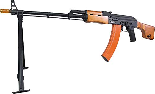 Evike Airsoft - CYMA Standard Airsoft RPK LMG AEG Rifle w/Steel Bipod and Real Wood Furniture (Package: Gun Only) - (35938)