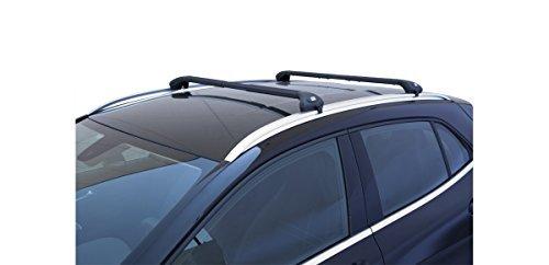 Barras portaequipajes de coche Viva 2 integrado para Astra Sport Tourer SW de 2009 en adelante negro