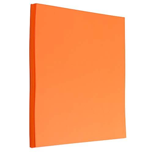 JAM PAPER Colored 24lb Paper - 90 GSM - 8.5 x 11 - Ultra Orange - 50 Sheets/Pack