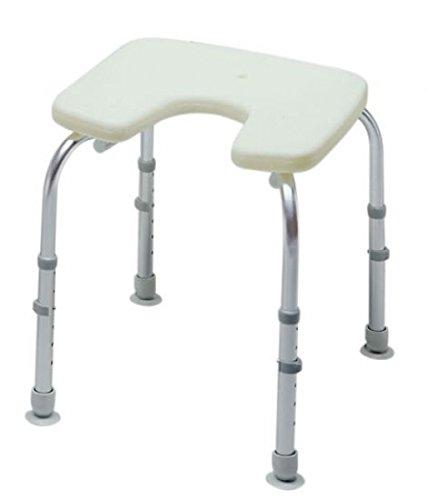 Stock-Fachmann® Duschhocker mit Hygieneausschnitt höhenverstellbar Duschsitz Duschstuhl Aluminium Badehilfe