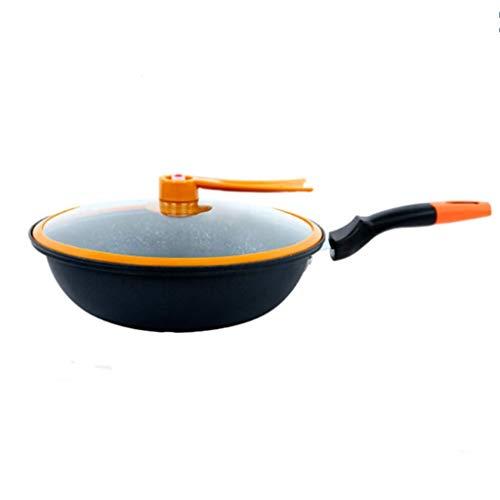 YAMMY Maifan Stone Sartén Antiadherente de Fondo Plano Cocina de inducción doméstica Estufa de Gas Universal (Olla Caliente)