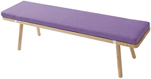 ZINN Kitchen Bench Cushion Thick Padded Seat Cushion for Wooden Bench/Dining Bench/Lounger,2 3 4 Seater Cushion,Long Chair Pad Deck Chair Cushion (90x30cm, Purple)