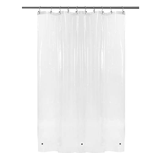 54x78 Inch Stall Shower Curtain/Liner Clear PEVA, 3 Bottom Magnets, Waterproof, PVC Free, Metal Grommets